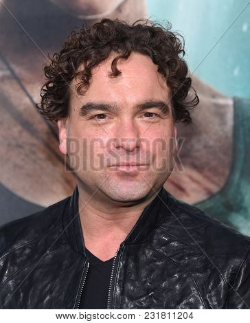 LOS ANGELES - MAR 12:  Johnny Galecki arrives for the 'Tomb Raider' US Premiere on March 12, 2018 in Hollywood, CA