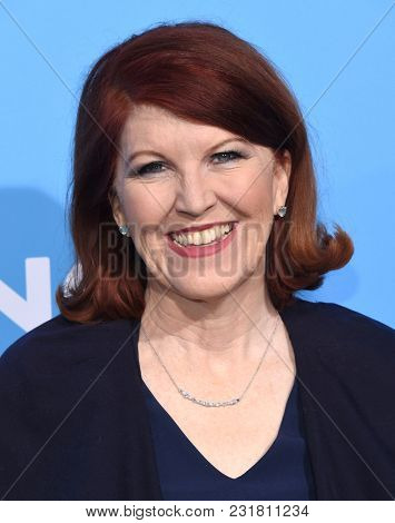 LOS ANGELES - MAR 06:  Kate Flannery arrives for the 'Gringo' World Premiere on March 6, 2018 in Los Angeles, CA