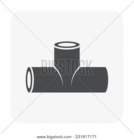 Pipe Fitting Icon Isolated On White Background.