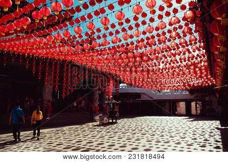 Territory Than Hou Temple. Kuala Lumpur Attraction. Travel To Malaysia. Religious Background. Touris