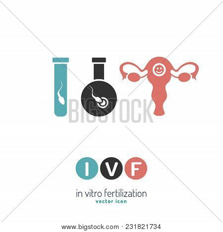 In Vitro Fertilisation Icon. Medical, Biological And Healthcare Concept. Artificial Insemination Ele