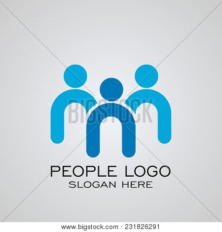 Leader Logo, People Logo Design, Partnership, Teamwork Logo Design, Vector Icons.