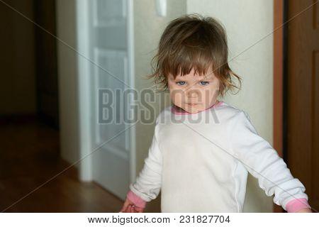 Beautiful Baby Girl, Blonde In A Dark Room