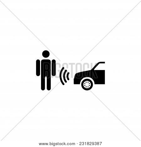 Sensing System Assist. Flat Vector Icon. Simple Black Symbol On White Background