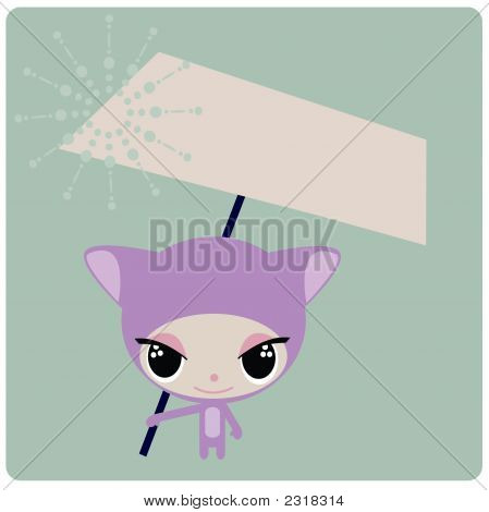 Violet Cartoon Character
