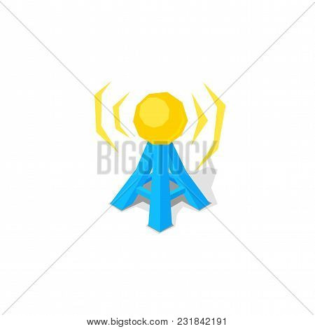 Wireless Network And Free Remote Access Point Spot, Vector Icon Isolated On White Background, Pictog