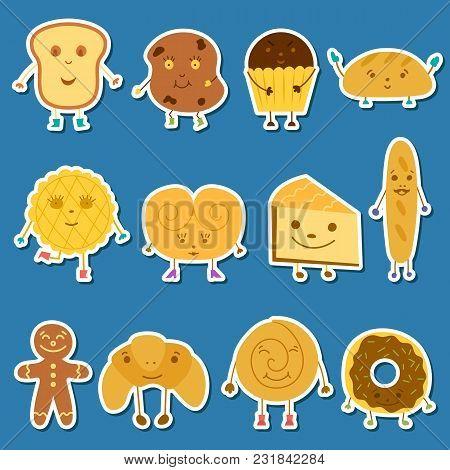 Vector Cartoon Bread Characters