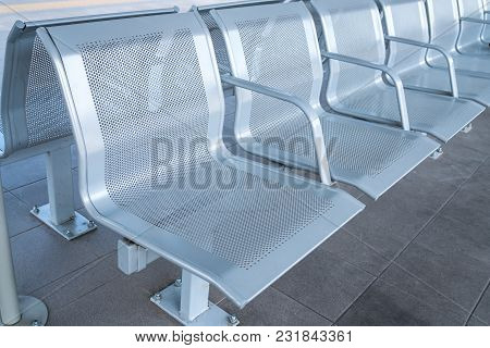 Railway Station Lounge Waiting Hall Metal Chair