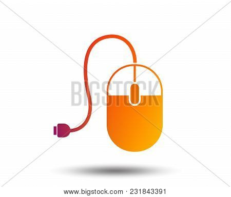 Computer Mouse Sign Icon. Optical With Wheel Symbol. Blurred Gradient Design Element. Vivid Graphic
