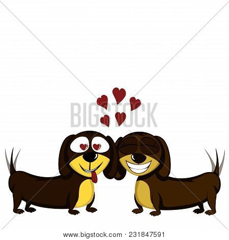 Little Dog - Lovely Little Dachshunds In Love
