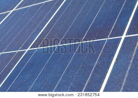 Closeup Detail Of A Photovoltaic Solar Energy Panel