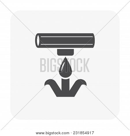 Water Drip Irrigation Icon Isolated On White Background.