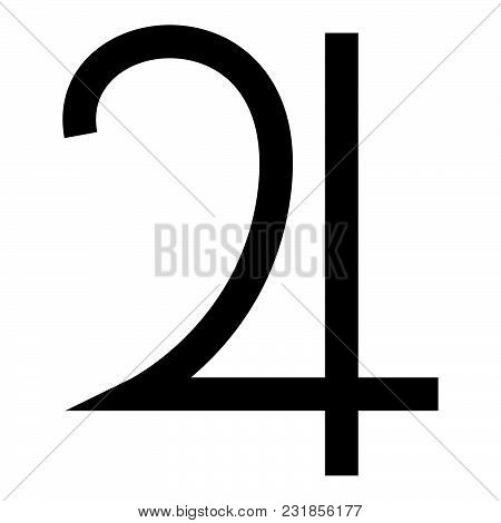 Symbol Jupiter Icon Black Color Vector Illustration Flat Style Simple Image