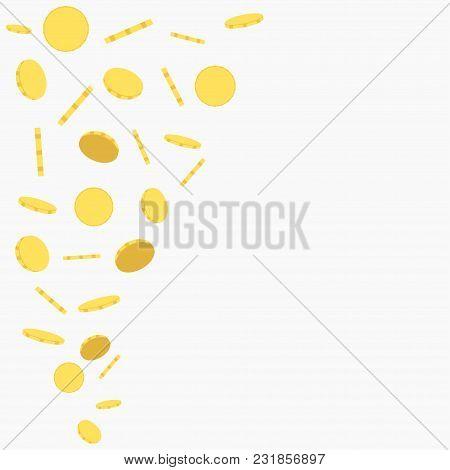 Falling Gold Coins, Flying Money, Jackpot Background - Vector
