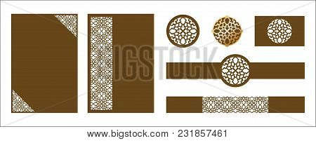 Laser Cut Ornamental Vector Template. Luxury Greeting Card, Wedding Invitation Card Template, Belly