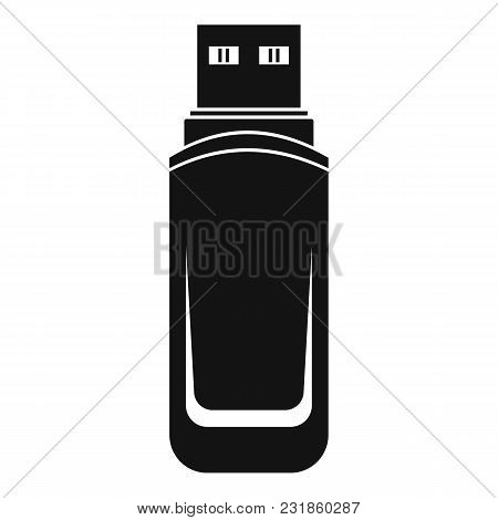 Mini Flash Drive Icon. Simple Illustration Of Mini Flash Drive Vector Icon For Web