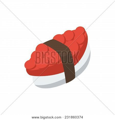 Tako Maki Icon Flat Symbol. Isolated Vector Illustration Of  Icon Sign Concept For Your Web Site Mob