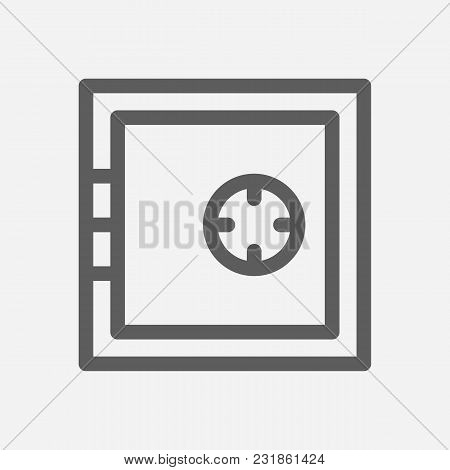 Funds Protection Icon Line Symbol. Isolated Vector Illustration Of  Icon Sign Concept For Your Web S