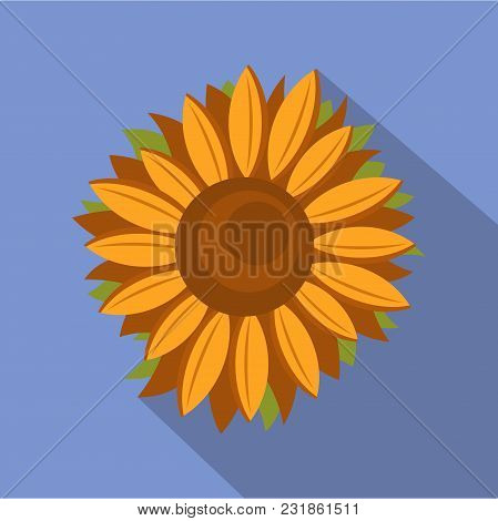 Tall Sunflower Icon. Flat Illustration Of Tall Sunflower Vector Icon For Web