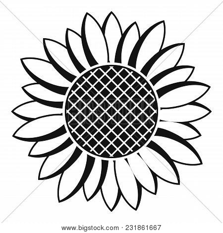 Nice Sunflower Icon. Simple Illustration Of Nice Sunflower Vector Icon For Web