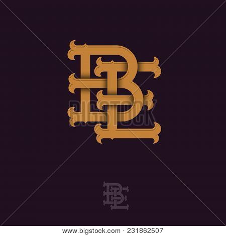 B And E Monogram. B And E Crossed Letters, Intertwined Letters Initials.