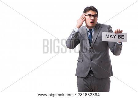 Businessman saying may be isolated on white background