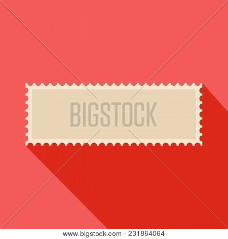 Letter Postage Stamp Icon. Flat Illustration Of Letter Postage Stamp Vector Icon For Web