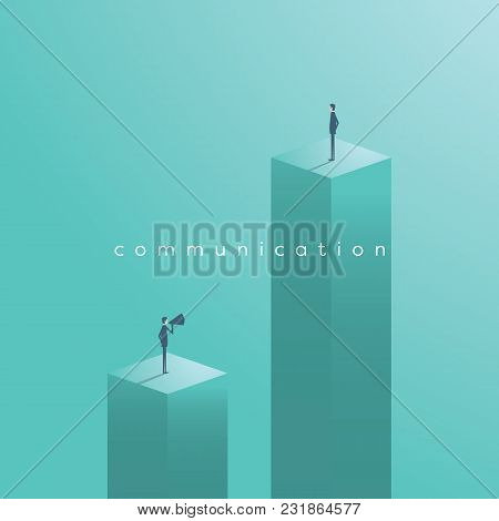 Business Communication Vector Concept With Businessman Shouting At Another Businessman. Eps10 Vector