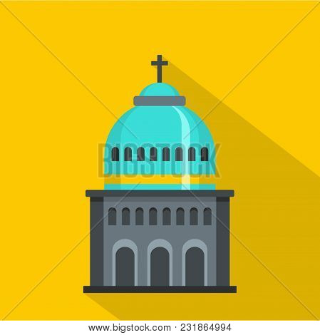 Muslim Church Icon. Flat Illustration Of Muslim Church Vector Icon For Web