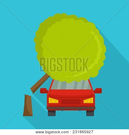 Accident Icon. Flat Illustration Of Accident Vector Icon For Web