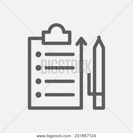 Distribution Icon Line Symbol. Isolated Vector Illustration Of Contract Sign Concept For Your Web Si