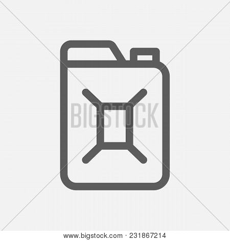 Canister Icon Line Symbol. Isolated Vector Illustration Of Oil Barrel Sign Concept For Your Web Site