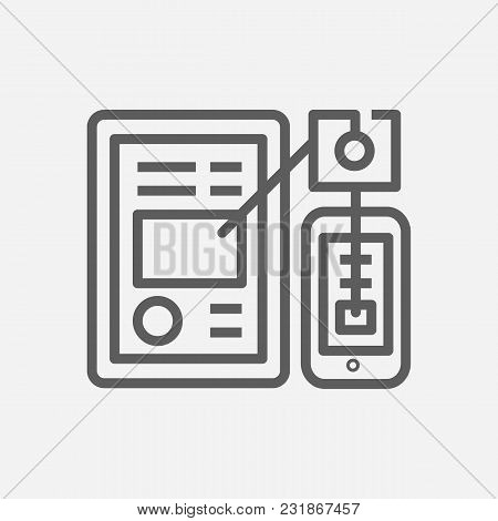Mobile Application Icon Line Symbol. Isolated Vector Illustration Of Phone App Sign Concept For Your
