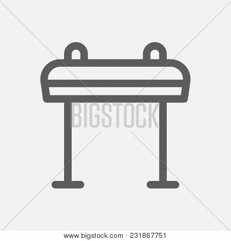 Horse Sport Icon Line Symbol. Isolated Vector Illustration Of Jump Barrier Sign Concept For Your Web