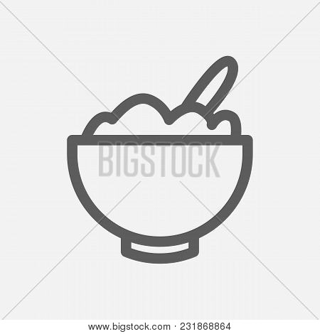 Cereal Icon Line Symbol. Isolated Vector Illustration Of Breakfast Sign Concept For Your Web Site Mo
