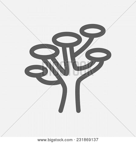 Travel City Series. Symbol Of Country Africa City Icon. Isolated Vector Illustration Of Africa, Tree