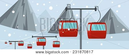 Lift Banner. Flat Illustration Of Lift Vector Banner For Web