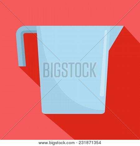 Beaker Icon. Flat Illustration Of Beaker Vector Icon For Web
