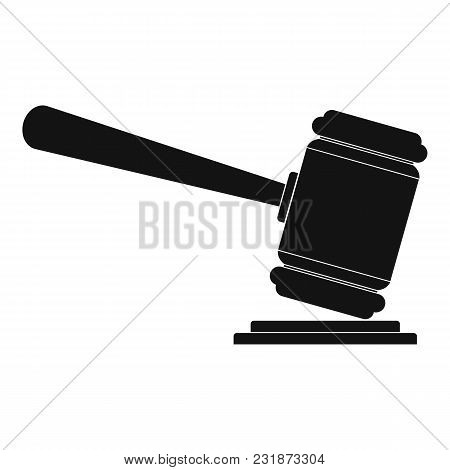 Judge Gavel Icon. Simple Illustration Of Judge Gavel Vector Icon For Web