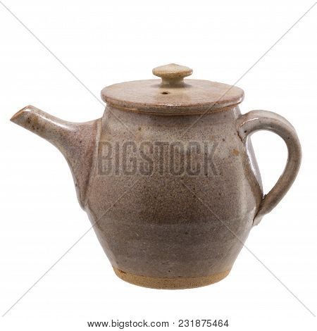 Tea Pot  Japanese Style Isolated On A White Background
