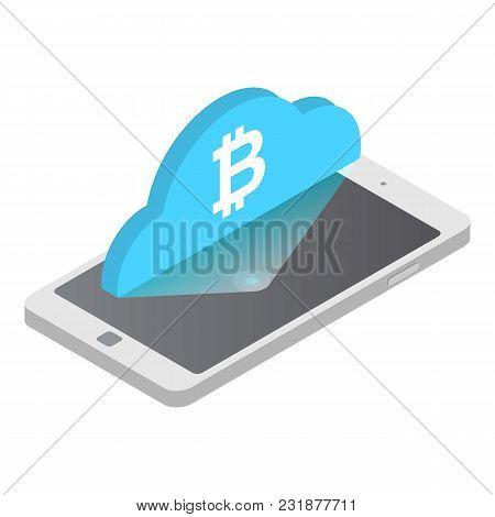Exchange Bitcoyne Icon. Isometric Illustration Of Exchange Bitcoyne Vector Icon For Web