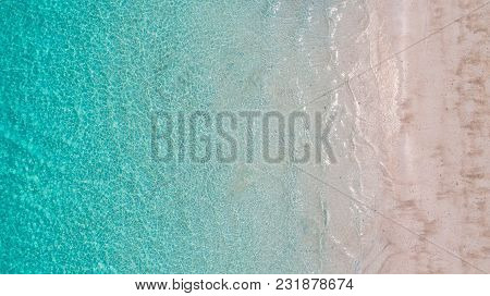 Sea Aerial View, Top View,amazing Nature Background.the Color Of The Water And Beautifully Bright.az