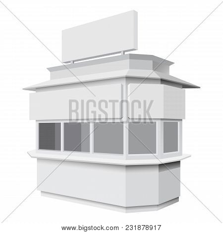 Trade Booth Mockup. Realistic Illustration Of Trade Booth Vector Mockup For Web