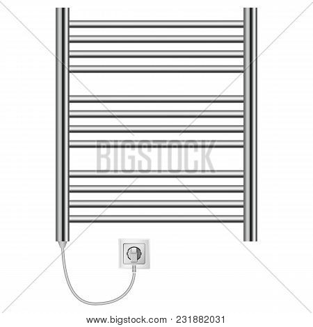 Domestic Heater Mockup. Realistic Illustration Of Domestic Heater Vector Mockup For Web