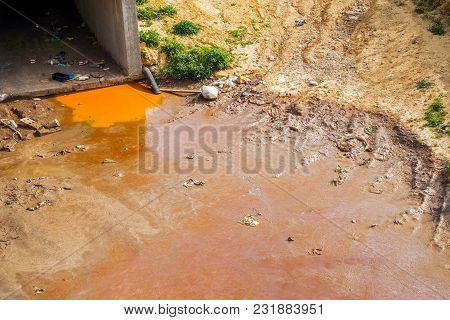 Pollution In The City On River
