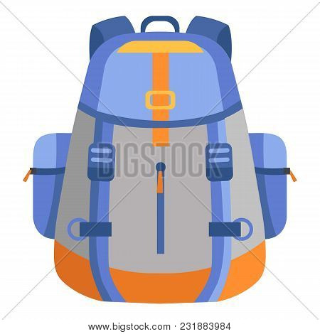 Backpack Icon. Flat Illustration Of Backpack Vector Icon For Web