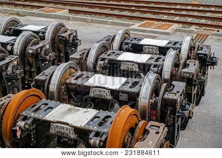 Train Bogies Spare Part, Close Up View