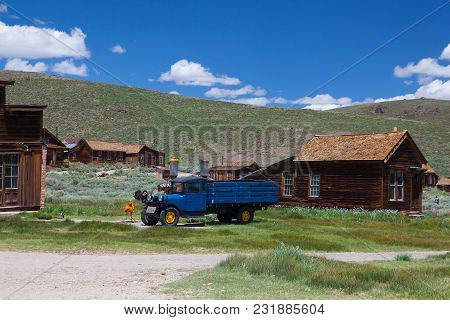 Bodie, Ca, Usa - July 15, 2011: Old Buildings In Bodie, An Original Ghost Town From The Late 1800s.