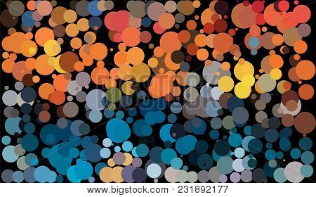 Color Dot Look Like Fizzy Bubble In Various Size And Color Abstract Background