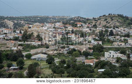 Famous And Picturesque Mountain Village Of Akanthou At Pentadaktylos Mountains, In Kerynia District,